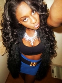 Hot busty black chick is ready to..